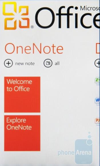 Office Hub on the LG Optimus 7 - LG Optimus 7 Review