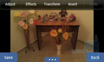 The gallery app has photo editing options built-in - Samsung Wave 525 Review