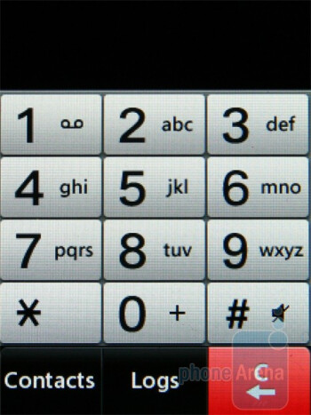The dialer is simple - Text input options - LG Cookie Lite Review