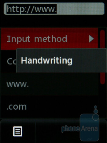 Text input options - LG Cookie Lite Review