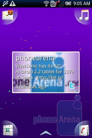 The interface and the menu of the Sony Ericsson Xperia X8 - Sony Ericsson Xperia X8 Review