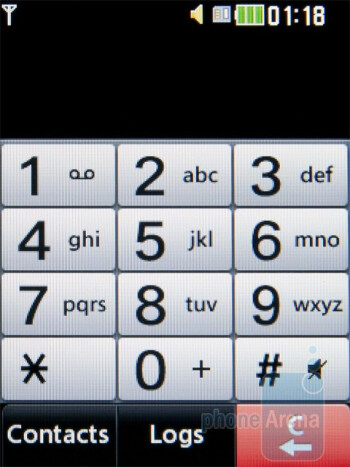 The dialer of the LG Cookie Style - LG Cookie Style Review