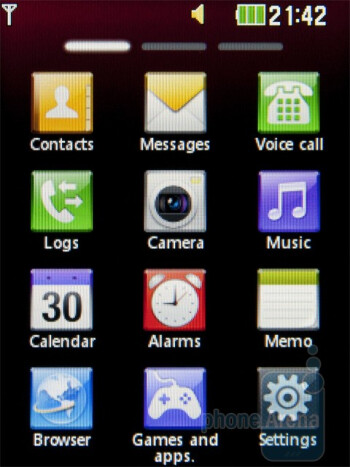Applications menu - LG Cookie 3G Review