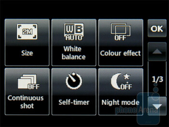 Camera interface - Gallery - LG Cookie 3G Review