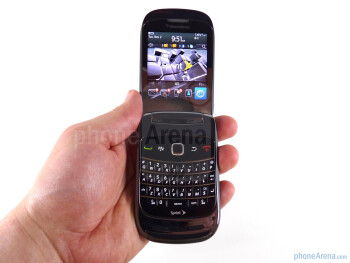 The RIM BlackBerry Style has a short, squat design but isn't awkward in the hand - RIM BlackBerry Style Review