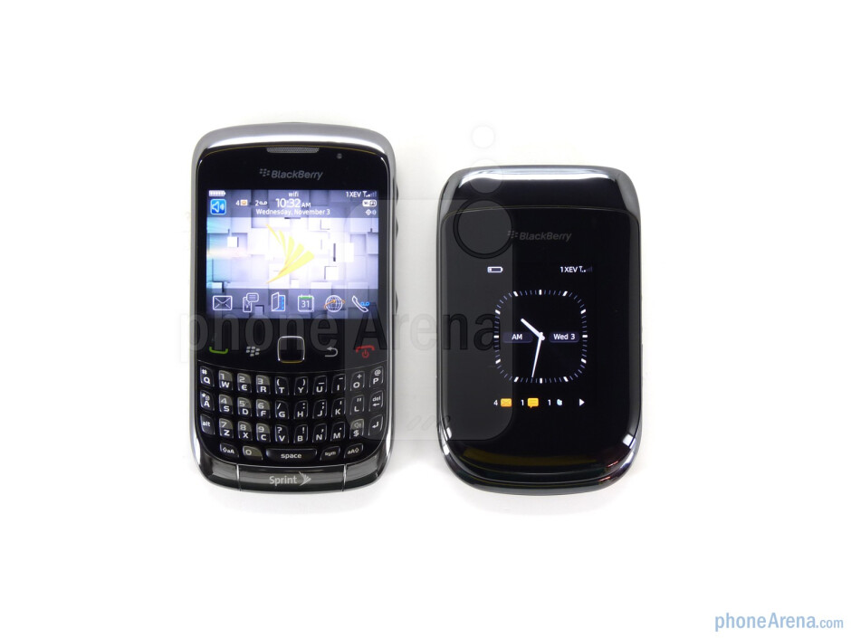 The RIM BlackBerry Style (right, up) and the RIM BlackBerry Curve 3G (left, down) - RIM BlackBerry Style Review