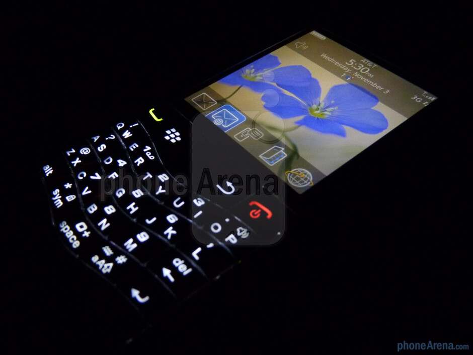The RIM BlackBerry Pearl 3G employs an optical track-pad and a SureType keyboard - RIM BlackBerry Pearl 3G Review