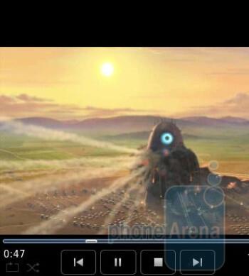 Watching videos - RIM BlackBerry Pearl 3G Review