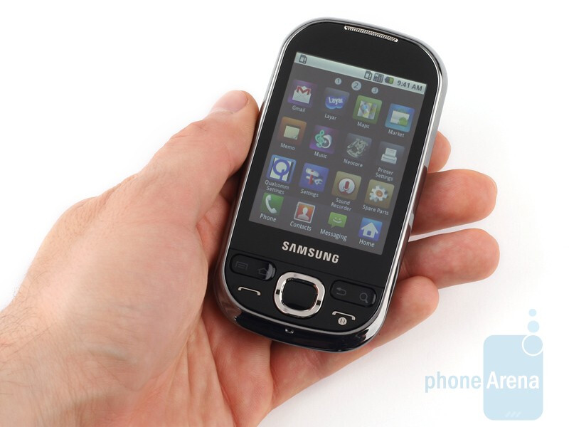 The Samsung Galaxy 5 is made from black glossy plastic - Samsung Galaxy 5 Review