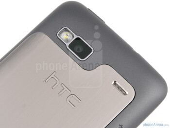 The back hosts the speaker and the 5MP camera with LED flash - HTC Desire Z Review