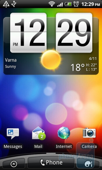 Homescreen - HTC Desire Z Review