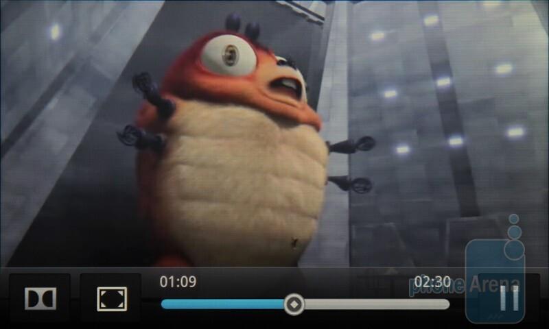 Video playback on the HTC Desire HD - HTC Desire HD vs Samsung Galaxy S