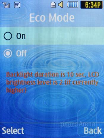Eco Mode - Samsung Evergreen Review