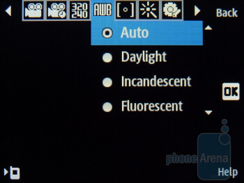 Camera interface - Samsung Evergreen Review