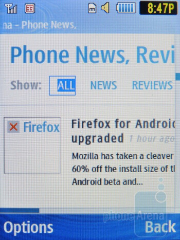 NetFront Browser - Samsung Evergreen Review