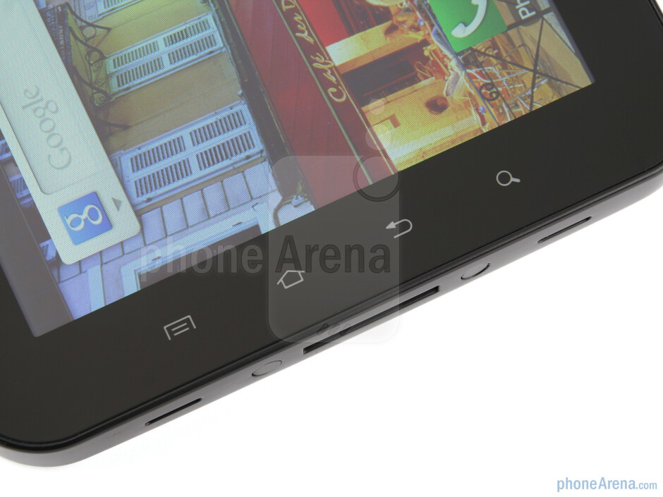 The sides of the Samsung Galaxy Tab - Samsung Galaxy Tab Review