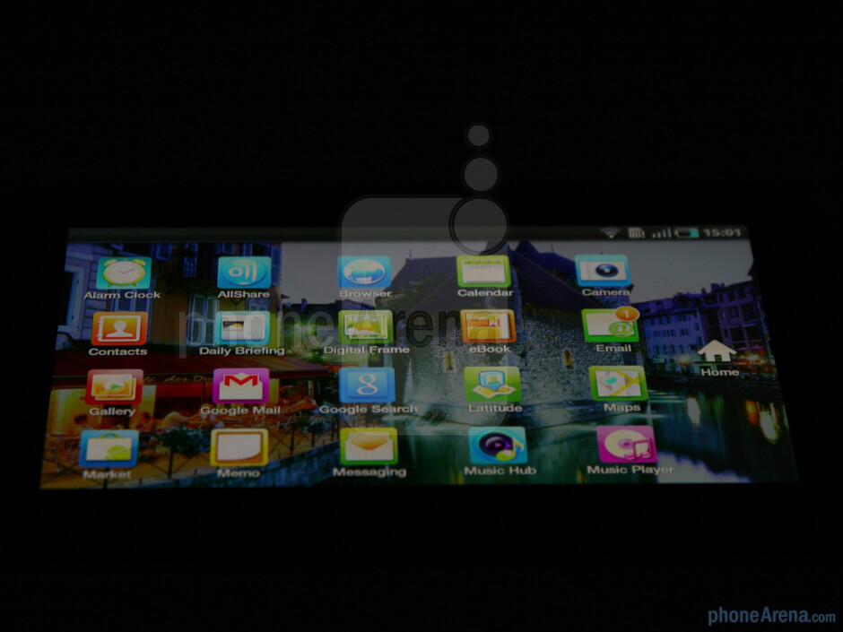 The viewing angles of the device - Samsung Galaxy Tab Review