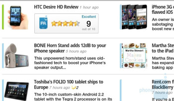 Browser - landscape - Samsung Galaxy Tab Review