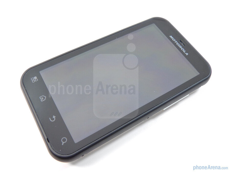 """The 3.7"""" TFT display packs a resolution of 480 x 854 pixels - Motorola DEFY Review"""