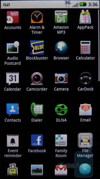 Main menu - Motorola DEFY Review