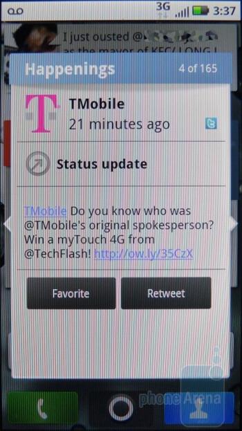 The Happenings widget - Motorola DEFY Review