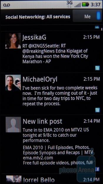 Social networking on the Motorola DEFY - Motorola DEFY Review