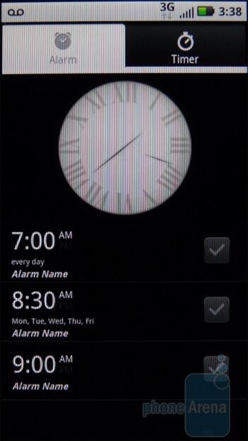 You can set an alarm or timer via the Alarm & Timer app - Motorola DEFY Review