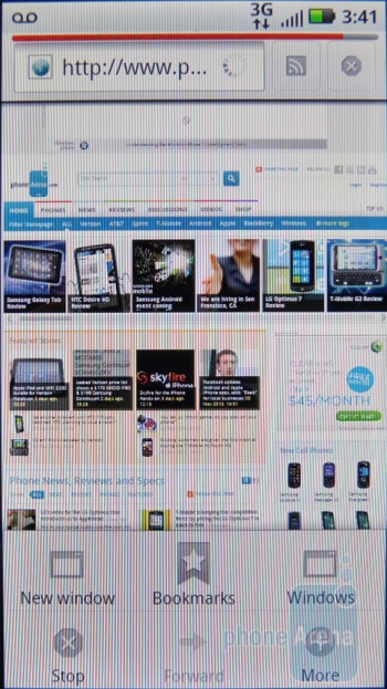 The Motorola DEFY is able to provide a satisfactory web browsing experience - Motorola DEFY Review