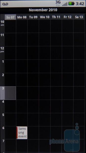 Calendar - Motorola DEFY Review