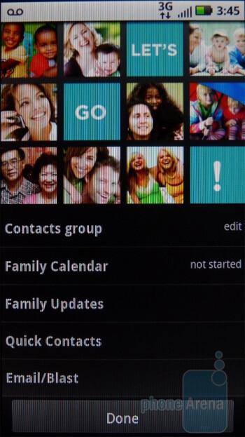 Family Room Panel - Motorola DEFY Review