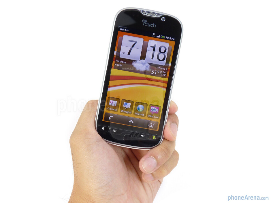 """The T-Mobile myTouch 4G is reasonably streamlined (0.43"""" thick) - T-Mobile myTouch 4G Review"""