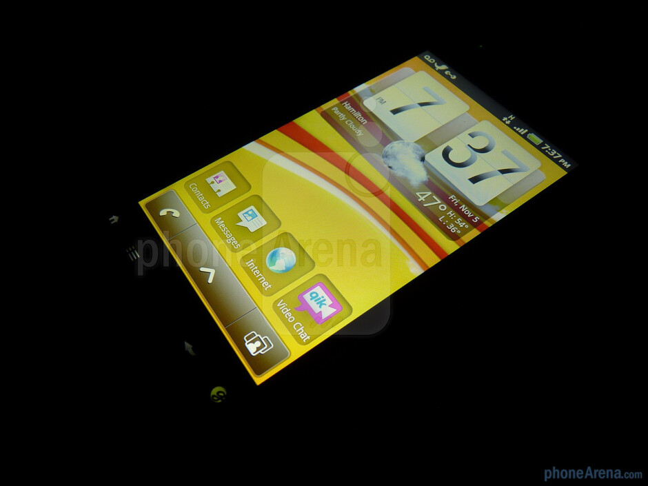 """The T-Mobile myTouch 4G has a 3.8"""" Super LCD capacitive display - T-Mobile myTouch 4G Review"""