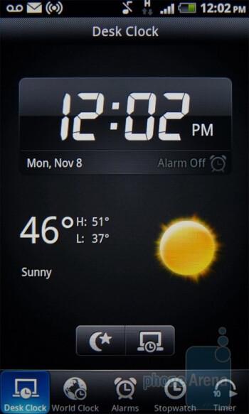 The Desk clock app - T-Mobile myTouch 4G Review