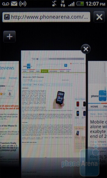 The web browser of the T-Mobile myTouch 4G - Google Nexus S vs T-Mobile myTouch 4G