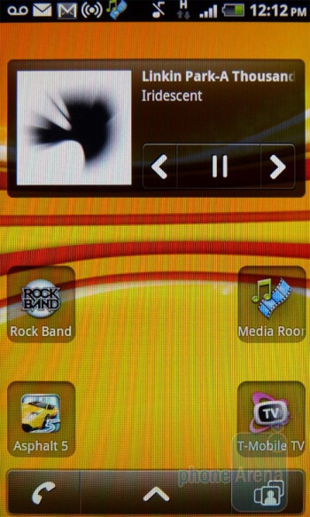 Music player - T-Mobile myTouch 4G Review