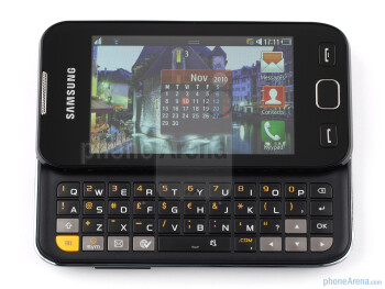 The physical keyboard of the Samsung Wave 533 - Samsung Wave 533 Review