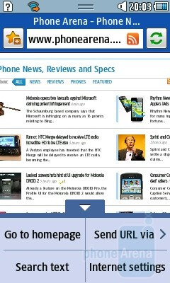 Dolphin 2.0 browser - Samsung Wave 533 Review
