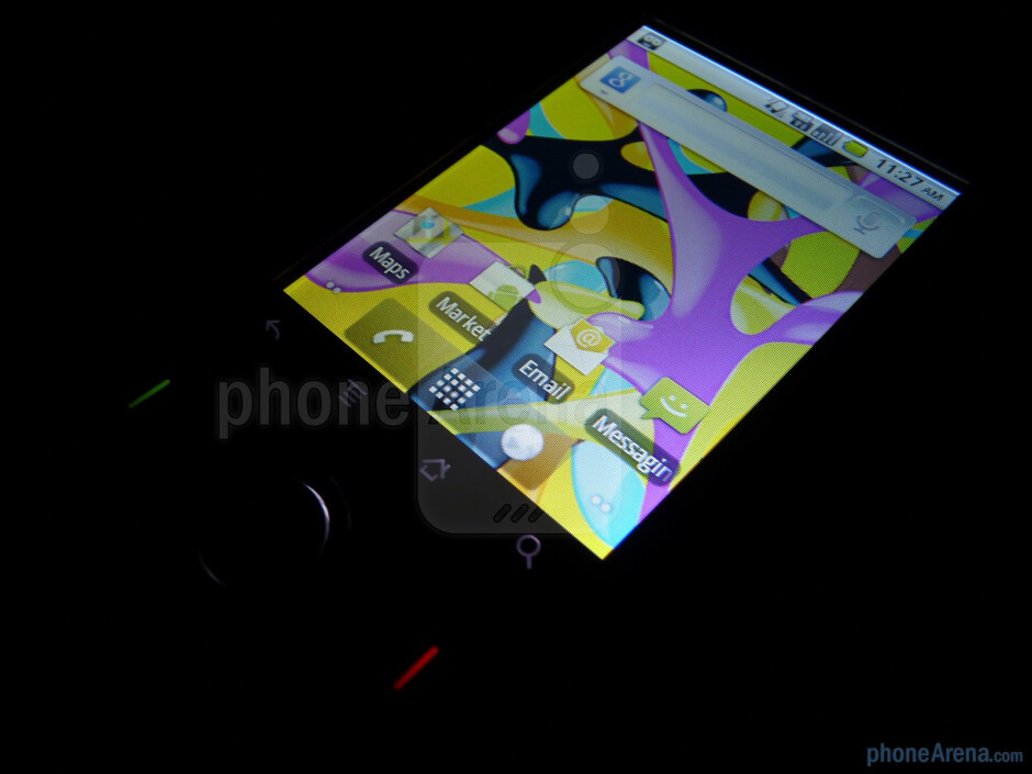"""The 2.8"""" QVGA (240 x 320) capacitive touchscreen supports 262k colors - T-Mobile Comet Review"""