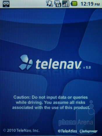 Telenav - Apps on the T-Mobile Comet - T-Mobile Comet Review