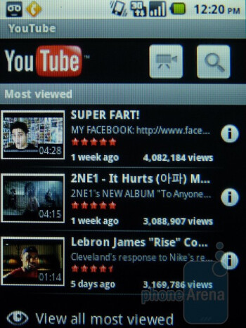 YouTube - Apps on the T-Mobile Comet - T-Mobile Comet Review