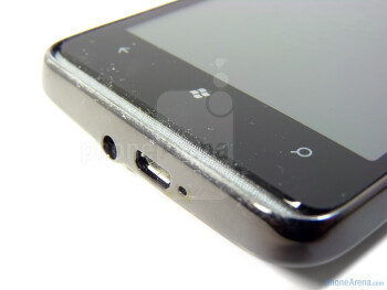 The two recessed metal grills at the top and bottom of the fascia attract a lot of dust and dirt - HTC HD7 Review