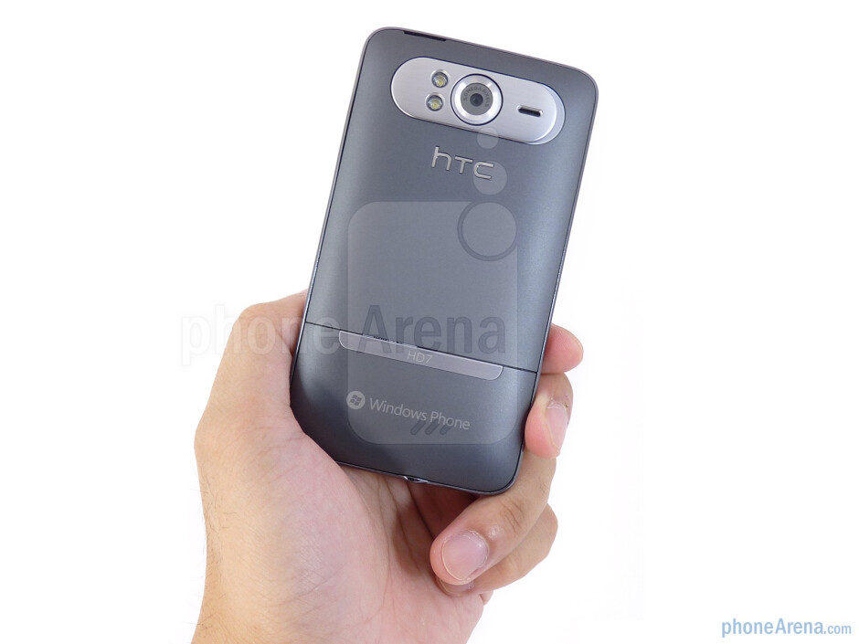 The big fascia, curved, smooth back, solid look and feel of the HTC HD7 all come together nicely - HTC HD7 Review