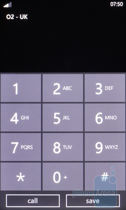 The dialer - HTC HD7 Review