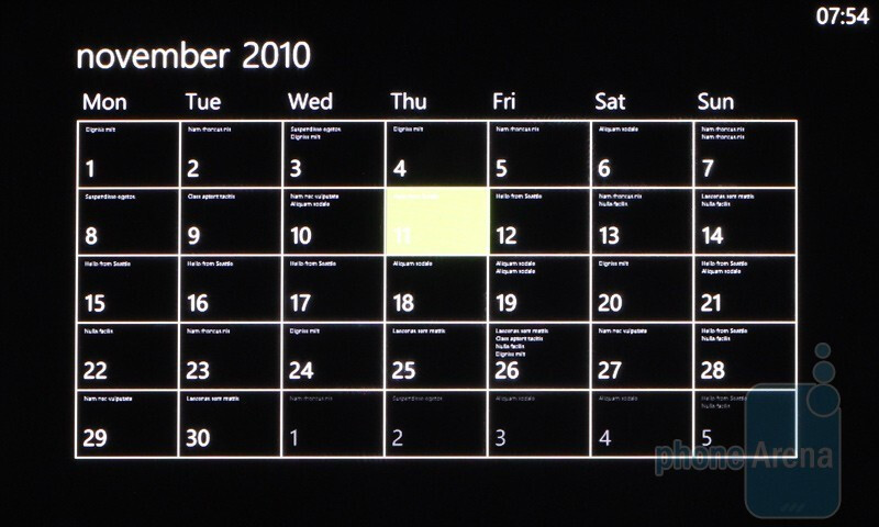 Organizer features on the HTC HD7 - HTC HD7 Review