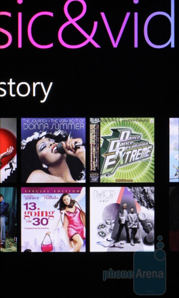 The music player of the HTC HD7 - HTC HD7 vs Apple iPhone 4