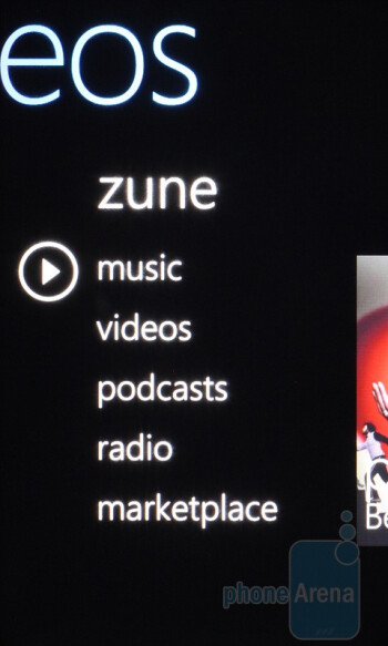 The Zune integration on the HTC HD7 - HTC HD7 Review