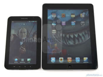 Samsung Galaxy Tab next to Apple iPad - Samsung Galaxy Tab vs Apple iPad