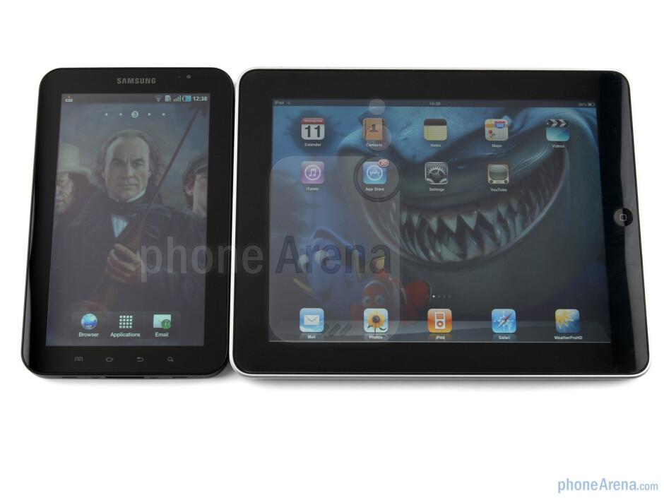 Samsung Galaxy Tab next to Apple iPad - Samsung Galaxy Tab vs Apple iPad