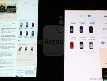When it comes to resolution, both Samsung Galaxy Tab (left) and Apple iPad (right) have pretty similar characteristics - Samsung Galaxy Tab vs Apple iPad