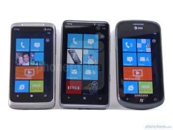 HTC HD7 vs HTC Surround vs Samsung Focus